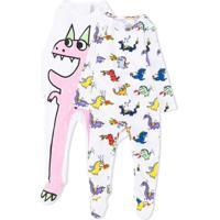 Stella Mccartney Kids Conjunto Com 2 Pijamas Com Estampa De Dragão - Branco