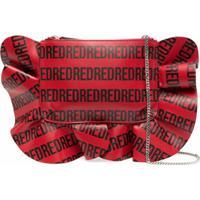 Red(V) Bolsa Bucket Xl Rock Com Babados - Vermelho