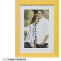 Porta Retrato Insta- Amarelo & Branco- Tamanho Da Fokapos