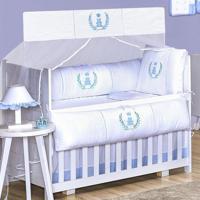 Kit Berço Padroeira Baby Realeza Azul
