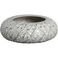 Vaso Decorativo Antique Arabesco Ii Bege E Verde