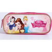 Estojo Escolar Infantil Estampa Princesas Disney