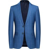 Blazer Masculino Xadrez Lansboter - Azul