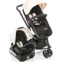 Carrinho De Bebê Travel System Mobi Safety 1St Plain Bege