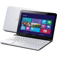 "Notebook Vaio Sve14123Cbw 14"" I3 -3110M 500Gb 4Gb Br Usb 3.0 Hdmi"