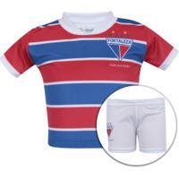 Kit De Uniforme De Futebol Do Fortaleza Para Bebê  Camisa + Calção -  Infantil - d5625ee71f3dc