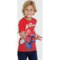 Camiseta Infantil Manga Curta Homem Aranha Marvel