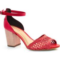 1ede45f54 Sandália Vermelha Para Festa - MuccaShop