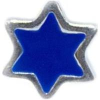 Pingente Estrela Azul Memories Prata 925 Esmaltado Capsula - Feminino