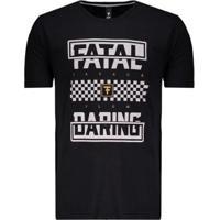 Camiseta Fatal Daring Estampada Masculina - Masculino-Preto