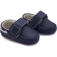 Sapato Bebê Baby Way Velcro Menino - Masculino-Marinho