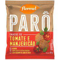 Biscoito Polvilho Parô Tomate E Manjericão Com 40G Flormel 40G