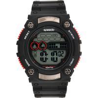 Relógio Speedo 80619G0Evnp1 Preto/Vermelho