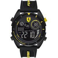 Relógio Scuderia Ferrari Masculino Borracha Preta - 830552