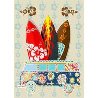 Placa Decorativa Pranchas- Preta & Bege- 20X30Cmkapos