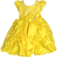 Vestido Infantil Bella E A Fera Luxo
