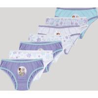 Kit De 7 Calcinhas Infantis Frozen Multicor