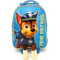 Mochila De Rodinha Xeryus Paw Patrol Fluffy 16 Azul