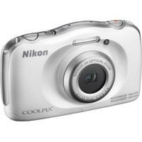 Câmera Nikon Coolpix W100 13,2 Mp Zoom 3X Cinza/Branco