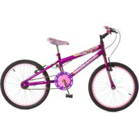 Bicicleta Infantil Aro 20 Rharu Tech Flowers - Feminino