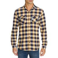 Camisa Ml Ckj Masc Xadrez Etiq Re Issue - Azul Marinho - P