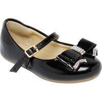 Sapato Boneca Com Termocolantes & Laço - Preta- Lulluluzinha