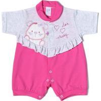 Macacão Infantil Para Bebê Menina Rosa