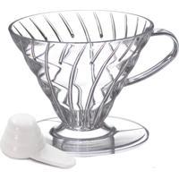 Coador De Café Em Acrílico Transparente Hario V60-03
