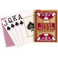 Jogo De Cartas - Baralho Profissional - Texas Hold'Em - Vermelho - Copag