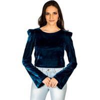 2cfe078b50 Occhi Azzurri  Blusa Veludo Molhado Colcci