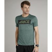 Camiseta Masculina Esportiva Ace Manga Curta Verde