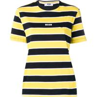 Msgm Striped Short-Sleeve T-Shirt - Amarelo