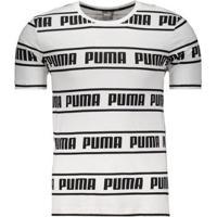 Camiseta Puma Amplified Tee Masculina - Masculino-Branco