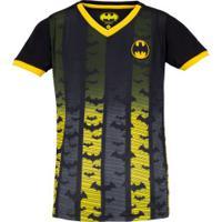 Camiseta Liga Da Justiça Batman Fard - Infantil - Preto/Amarelo