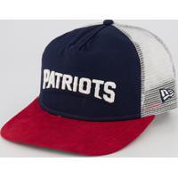 Boné New Era Nfl New England Patriots 950 Marinho E Vermelho