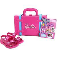 Sandália Infantil Grendene Kids Barbie Volta Ao Mundo - Feminino-Rosa