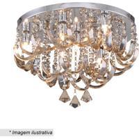 Plafon Com Ornamentos- Cristal- 30Xã˜45Cm- Bivolthevvy