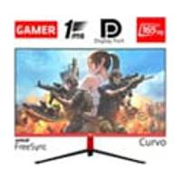 Monitor Gamer Led Curvo 24P 1Ms 165Hz Hq 24Ghq-Black Rgb R3000 Freesync Hdmi Display Port Preto