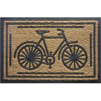 Tapete Capacho Bicicleta- Marrom Claro & Preto- 60X4Sultan