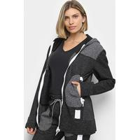 Jaqueta Asics Premium Knit Hoodie Feminina - Feminino-Preto