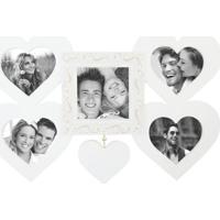 Painel Sweetheart Para 5 Fotos 10X15 Recortadas Branco Kapos