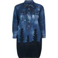Dsquared2 Blusa Jeans - Azul