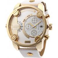 Relógio Cagarny 6819 Masculino Pulseira De Couro - Champagne