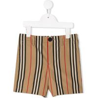 Burberry Kids Shorts De Sarja - Neutro