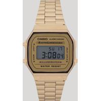 d2e6180d47fde Relógio Digital Casio Unissex - A168Wg9Wdfu Dourado - Único