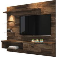 Painel Para Tv De Até 55 Polegadas Com Luminária, Deck, Sonho
