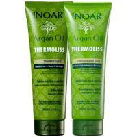 Kit Inoar Argan Oil Thermoliss Reduz Frizz Shampoo + Cond.