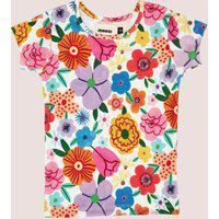 Amaro Feminino Mooui Conjunto Pijama Infantil, Buque De Flores