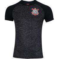 Camiseta Do Corinthians Mixed 18 - Masculina - Cinza Escuro/Preto