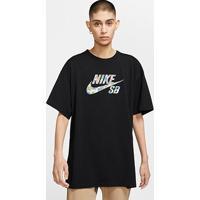 Camiseta Oversized Nike Sb Paradise - Masculino-Preto